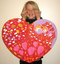 VALENTINE CRAFT FOR KIDS PAPER MACHE HEART.