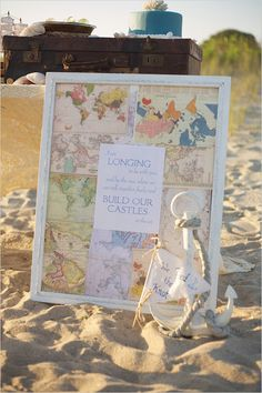 Nautical destination wedding decor ideas. #NauticalWedding #DestinationWedding #TravelTheme