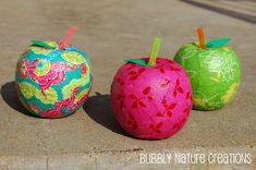 Cute fabric covered apples!