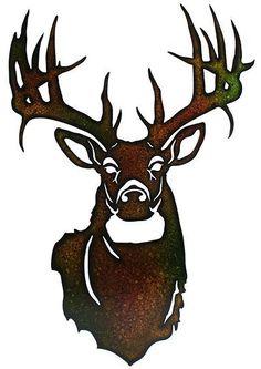 Laser Cut Metal Deer Head #DeerHunting