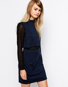 Enlarge The Laden Showroom X Paisie Double Layer Shift Dress