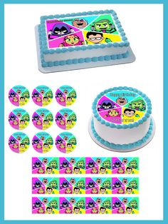 Teen Titans Go 4 Edible Birthday Cake OR CupcakeTopper – Edible Prints On Cake (EPOC)