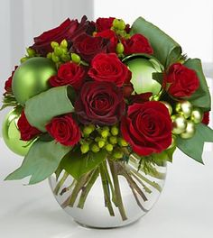 The FTD® Holiday Bliss™ Bouquet - VASE INCLUDED- Deluxe