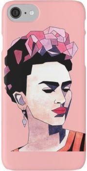Geometric Frida Kahlo iPhone 7 Cases