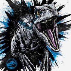 Anthony Petrie - Jurassic World: Fallen Kingdom Style Guide 2018 Blue Jurassic World, Jurassic World Fallen Kingdom, Jurassic Park Trilogy, Jurassic Park Tattoo, Jurrassic Park, Dinosaur Tattoos, Falling Kingdoms, Dinosaur Art, Prehistoric Creatures