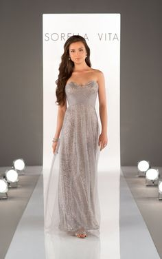 8684 Sequin Bridesmaid Dress by Essense of Australia