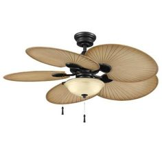 Hampton Bay Havana 48 in. Outdoor Natural Iron Ceiling Fan-51227 at The Home Depot