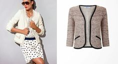 DIY Chaqueta Chanel (patrón gratis incluido). Costura de chaqueta y Blazer. Diy Clothing, Clothing Patterns, Dress Patterns, Channel Jacket, Chanel Couture, Diy Vetement, Diy Fashion, Fashion Design, Couture Tops