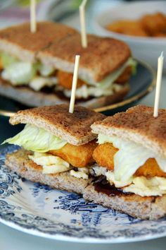 Mini Chicken Nugget & Egg Sandwiches