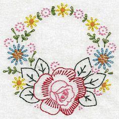 Vintage Floral Wreaths Colorwork - Embroidery Playground   OregonPatchWorks
