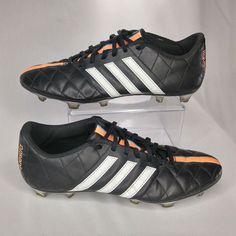 660557b79dd5 Adidas Men s Soccer Cleats 11Questra Black Size 10.5 US Orange Blue Stripe