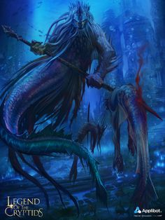 Artist: Herve Groussin aka Nuro - Title: Legend of the Cryptid - Card: Unknown