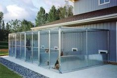 How To Build the Perfect Dog Kennel - Gun Dog Magazine.Great source of materia. How To Build the Perfect Dog Kennel – Gun Dog Magazine…Great source of materials & information Dog Boarding Kennels, Pet Boarding, Dog Kennels, Animal Boarding, Dog Kennel Designs, Dog Kennel Cover, Dog Hotel, The Perfect Dog, Dog Daycare