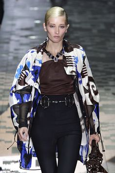 almost Ikat-like...  Gucci - Milan Spring 2012