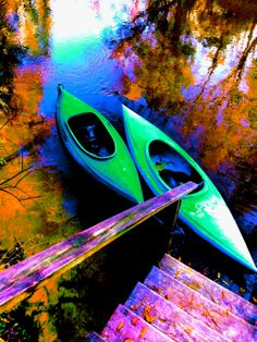 Neon Kayak by LillyputPixels on Etsy, $10.00
