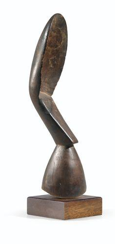 CUILLER-PILON, KULANGO, CÔTE D'IVOIRE KULANGO PESTLE-SPOON, IVORY COAST haut. 34,5 cm