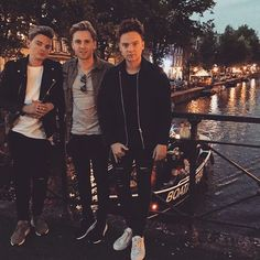 Jack, Abe, and Conor in Amsterdam