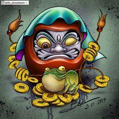 Japanese Mask Tattoo, Japanese Koi Fish Tattoo, Japanese Tattoos For Men, Japanese Tattoo Symbols, Traditional Japanese Tattoos, Japanese Tattoo Designs, Tengu Tattoo, Daruma Doll Tattoo, Yakuza Tattoo