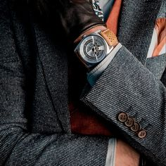 Watches fitted with visible manufactured movements are fascinating, but often unaffordable. The combines a spectacular mechanism with an affordable price thanks to a high-quality standard movement Mechanical Watch, Watches, Gentleman, Accessories, Club, Clock, Watch, Clocks