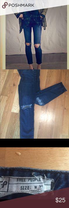 Free People Destroyed Skinnies 31 Free People Destroyed Skinny jeans size 31 Josie wash. Make an offer!!! Free People Jeans Skinny