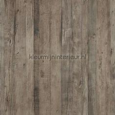 Driftwood vergrijsd bruin behang 18291 uit de collectie Riviera Maison van BN Wallcoverings voordelig bij kleurmijninterieur