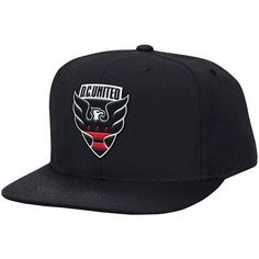 Men s D.C. United Mitchell   Ness Black MVP Classic Adjustable Snapback Hat c04cc3540c34