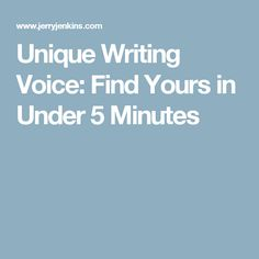 Unique Writing Voice: Find Yours in Under 5 Minutes