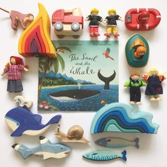 'The Snail and the Whale' by My story sack of the week! Book based play and activities Snail And The Whale, Julia Donaldson Books, Story Sack, Classroom Birthday, Tuff Tray, Book Baskets, Montessori Toddler, Montessori Playroom, Book Corners