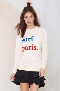Cuisse de Grenoiulle Surf in Paris Sweatshirt