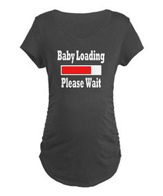 With all of the changes underway, keep that sense of humor front and center in this humorous maternity tee! Made from soft cotton, this comfy shirt is a sweet way to show off that growing baby bump and that sparkling wit.
