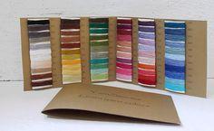 Sample Cart  66 colors linen yarn от YarnStories на Etsy, €5.00