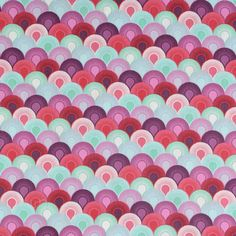 Tula Pink Chain Mail Plum Fabric from Elizabeth collection. ID PWTP066-PLUMX.