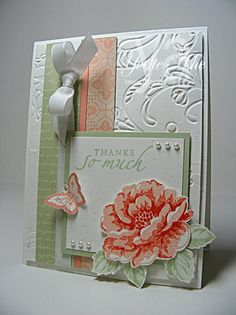 Stippled Blossoms Thank you by Yvette - Cards and Paper Crafts at Splitcoaststampers