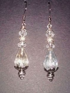 Handcrafted Clear Crystal Faceted Glass by CreationsByBusgoose
