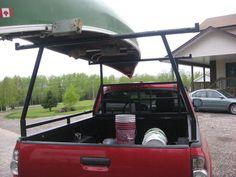 Homemade Pickup Canoe Rack