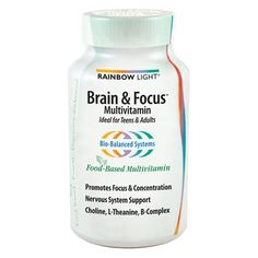 Rainbow Light Brain and Focus Multi Vitamin provides a complete intake of multivitamin complex on a daily basis, It provides a Brain Support complex , that specifically promotes concentration,stamina and nervous system.