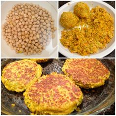 Receta De Hamburguesas De Garbanzos - theCookInMe Veg Recipes, Baby Food Recipes, Vegetarian Recipes, Healthy Recipes, Seafood Diet, Daniel Fast Recipes, Vegan Fast Food, Vegan Burgers, Greens Recipe