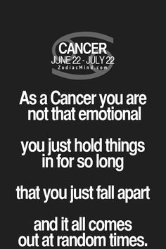 ~OMG soooo true, for this Moon Child anyway lol Fun facts about your sign here