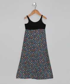 Take a look at this Blue & Coral Dot Maxi Dress - Toddler & Girls by Nouvelle on #zulily today!
