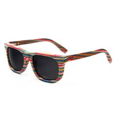 Recycled Skateboard Wood Sunglasses.... Okay I need to have these!
