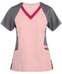 Wonderwink Wonderflex Light Pink/pewter/hot Pink Scrub Top - S Faith Boots, Pink Pewter, Scrubs Outfit, Scrub Pants, Scrub Tops, Princess Seam, Couture, Hot Pink, My Style