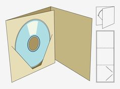 Vector footage of a CD case template. Paper craft fold out and finished case. Cd Cover Design, Cd Design, Album Design, Packaging Cd, Packaging Design, Porta Dvd, Pochette Cd, Photographer Packaging, Cd Cover Template