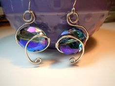 wire wrapped crystals, handmade jewelry