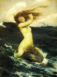 This woman riding a mystical sea creature off into the sunset. | 22 Women In Art History Who Gave Absolutely Zero F**ks