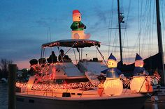 decorated boats for christmas | ... ! Lighted Boat Parade is One Highlight of the Solomons Christmas Walk
