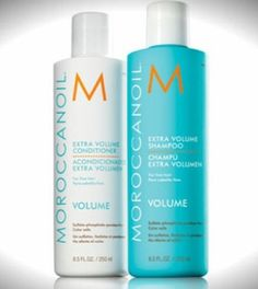 Moroccan Oil Volume Shampoo and Conditioner for a ton of volume without the frizziness