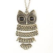 Owl Articulated Pendant Necklace
