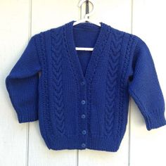 Ages 1 to 5 years kids knit cardigan Boys navy by LurayKnitwear,