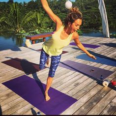 (Arielle Kebbel) That WAS a yoga pose... @HPEClothing #bali