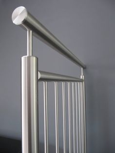RVS balustrade met verticale spijlen